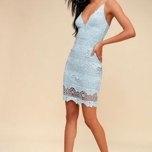 Lulus light blue lace dress